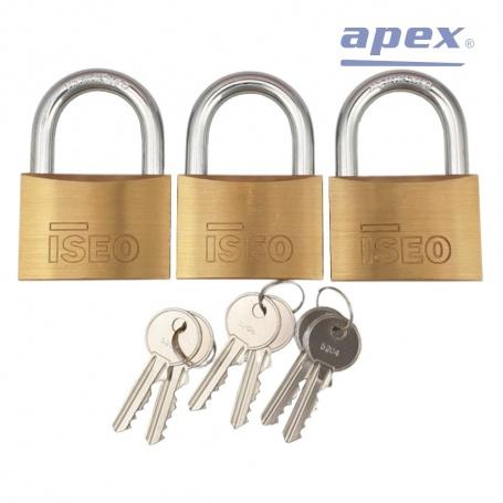 3x zámok (60) + 6 kľúčov